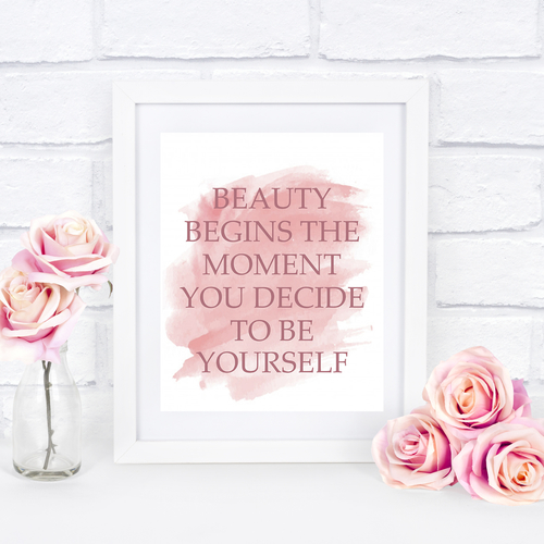 Beauty Begins Quote