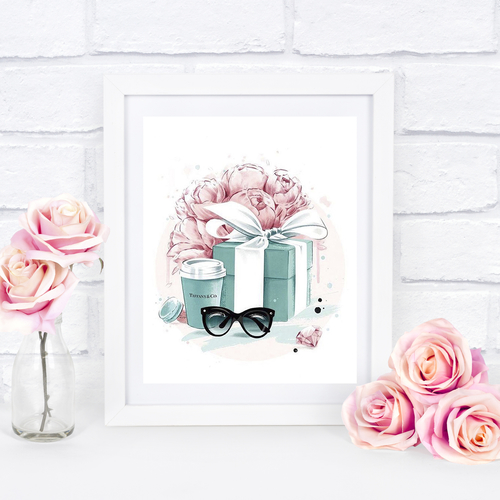 Blue & Pink Gift Box & Cup