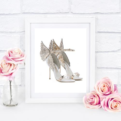Gold Winged Shoe