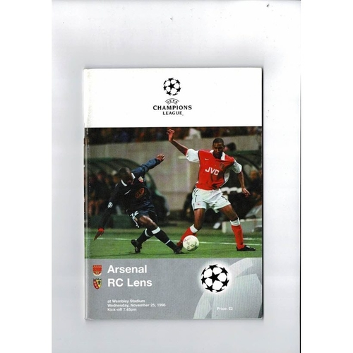Arsenal v Lens Champions League Football Programme 1998/99