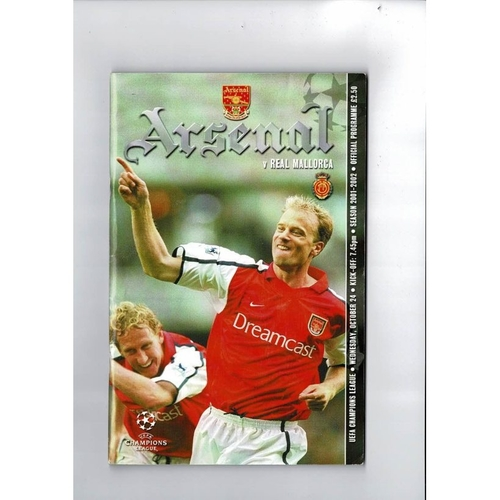 Arsenal v Real Mallorca Champions League Football Programme 2001/02