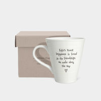 East Of India Boxed Porcelain Mug- Life's truest happiness