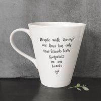 East Of India Boxed Porcelain mug - People walk through