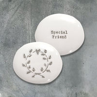 East Of India Porcelain Pebble- Special Friend