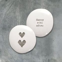 East Of India Porcelain Pebble- Happy Ever After