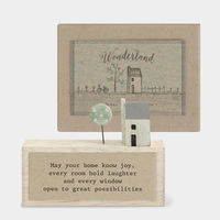 East Of India Boxed Wonderland Plaque-May your Home