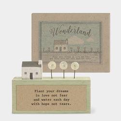 East Of India Boxed Wonderlad Plaque-Plant Dreams
