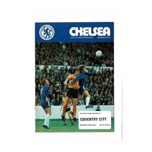 1974/75 Chelsea v Coventry City Football Programme
