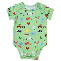 Powellcraft Down On The Farm Print Babygrow 0-6 months