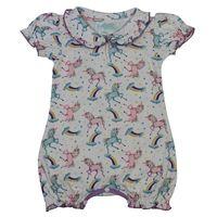 Powellcraft Unicorn Print Babygrow