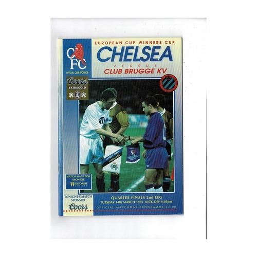 Chelsea v Club Brugge European Cup Winners Cup Football Programme 1994/95