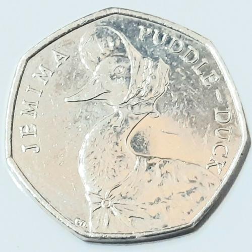 2016 Beatrix Potter Jemima Puddle-Duck 50p Coin