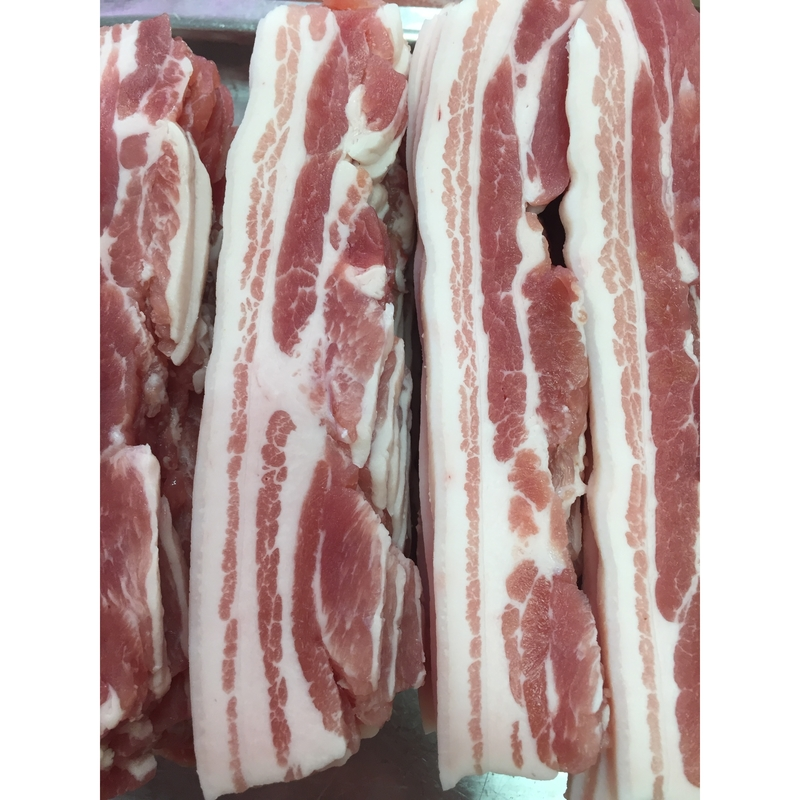 Award Winning Dry Cured Streaky Bacon (rind on)