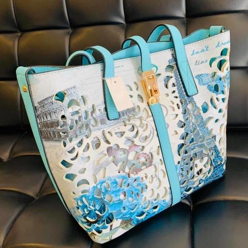 Blue/White Floral Handbag