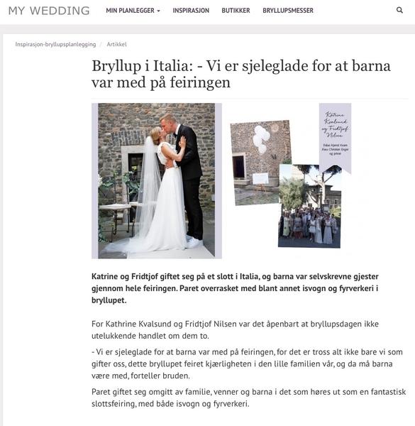 Norwegian Bride Wedding in Italy - Bryllup i Italia