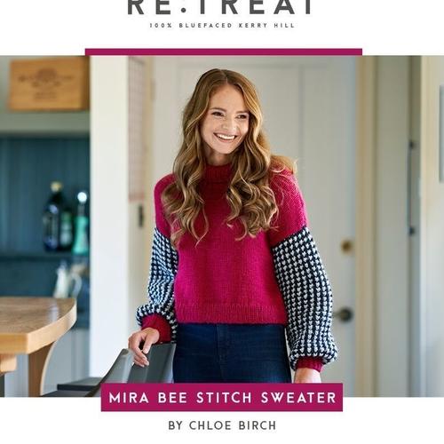 Mira Bee Stitch Sweater pattern