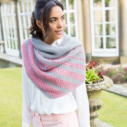 Esme Striped Shawl Pattern