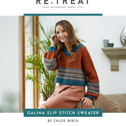 Galina Slip Stitch Sweater Pattern