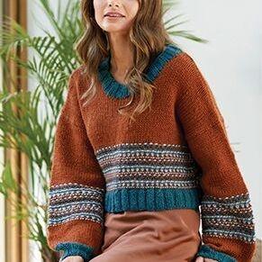 Galina Slip Stitch Sweater Pattern