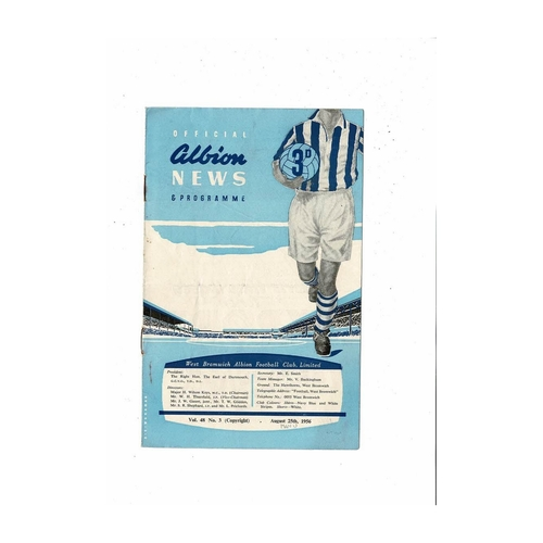 1956/57 West Bromwich Albion v Manchester United Football Programme
