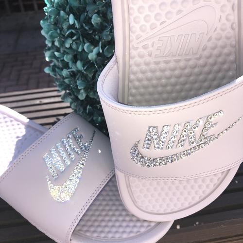 Swarovski Crystal Nike Sliders