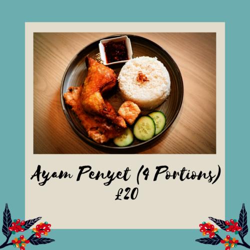 Ayam Penyet (4 Portions)