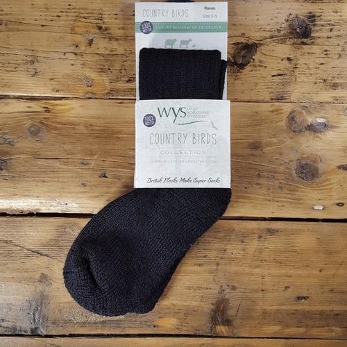 WYSpinners BFL Socks - Raven & Dove