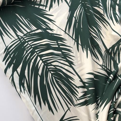 Seductive Palms Cotton Sateen 79 cm Remnant
