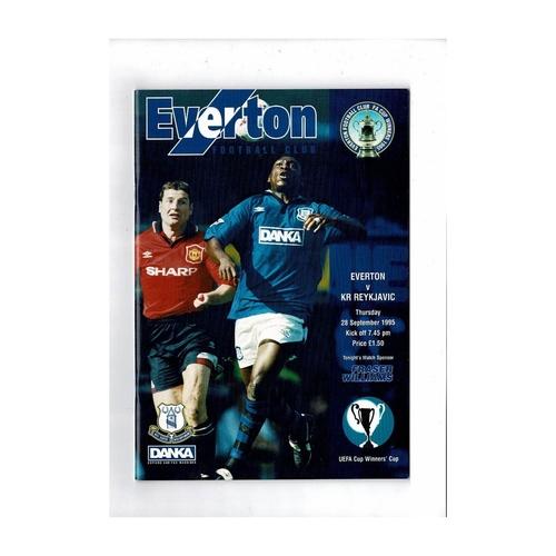 Everton v Reykjavik European Cup Winners Cup Football Programme 1995/96
