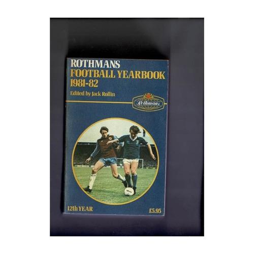 Rothmans Football Yearbook 1981/82 Softback