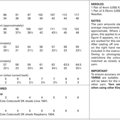 4344 Cottonsoft DK Pattern