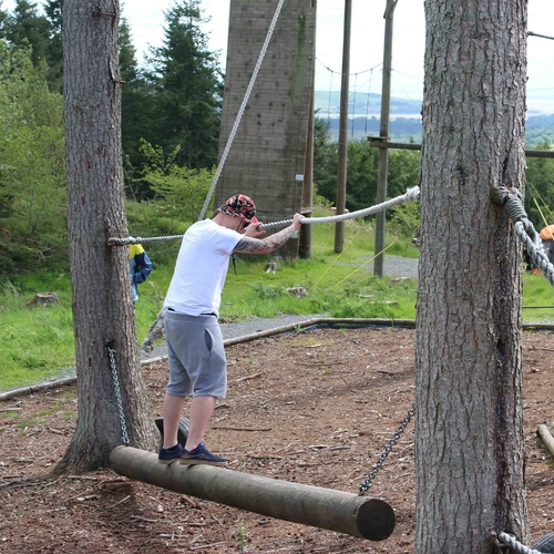 """Go Ape"" Style Ropes Course"