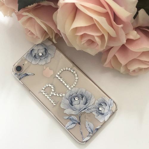Swarovski Crystal Blue Roses Cases
