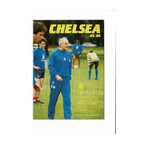 1985/86 Chelsea v Coventry City Football Programme