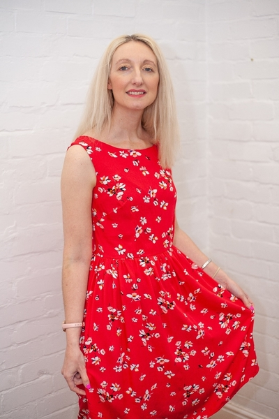 Sew Over It Betty Dress made using our Ariana Red Viscose