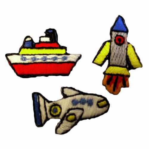 Motif - Plane, Rocket & Ship