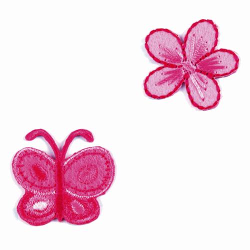 Motif - Flower & Butterfly
