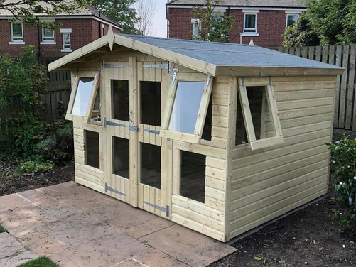 10x8 Apex Reverse Summer House