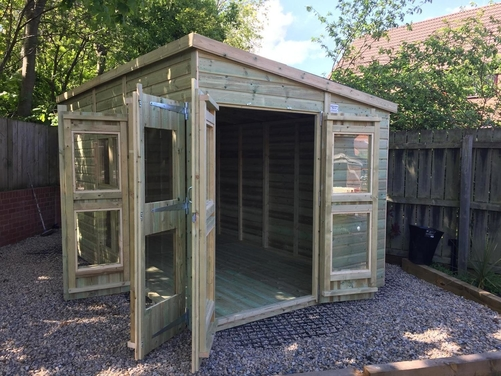 14x8 Pent Summer House