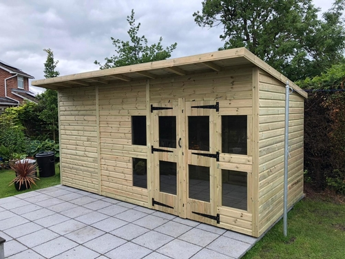 16x8 Pent Summer House