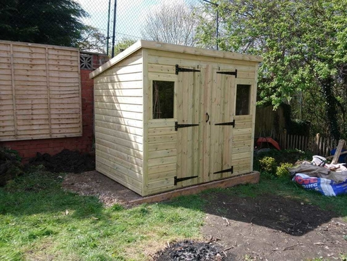 8x6 Pent Shed