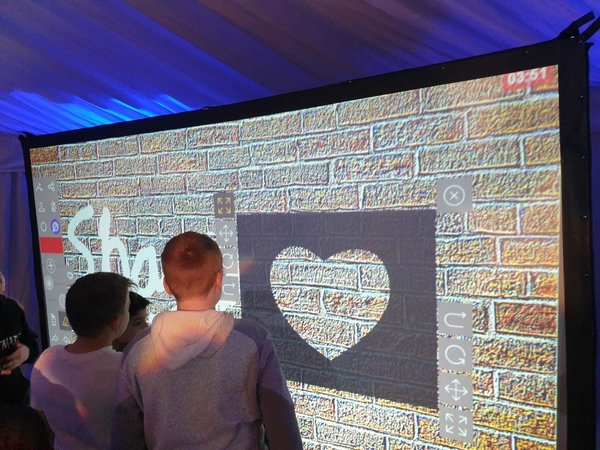 What is a Digital Graffiti Wall?