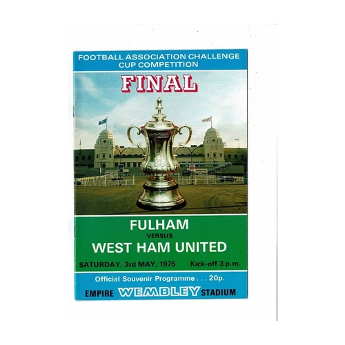 1975 Fulham v West Ham United FA Cup Final Football Programme