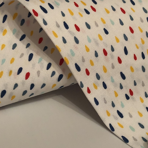 Raindrops White Cotton Poplin