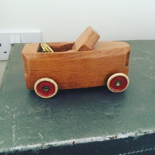 Upcycled Carpenter Planer Cars.