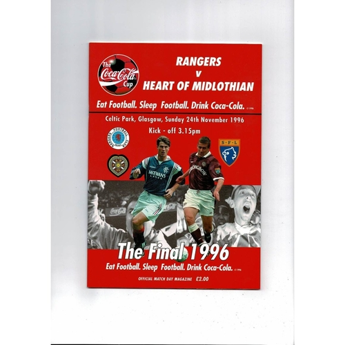 Scottish League Cup Final Football Programmes