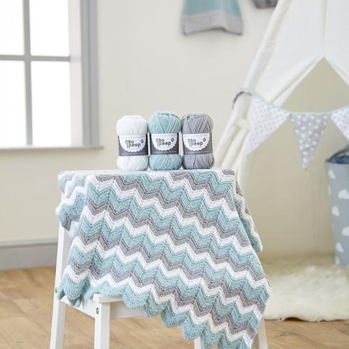 Zig Zag Baby Blanket Kit
