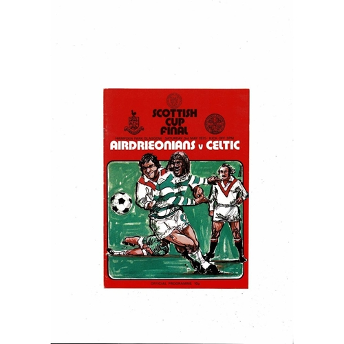1975 Airdrie v Celtic Scottish Cup Final Football Programme