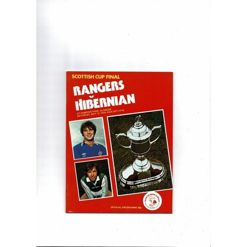 1979 Rangers v Hibernian Scottish Cup Final Football Programme