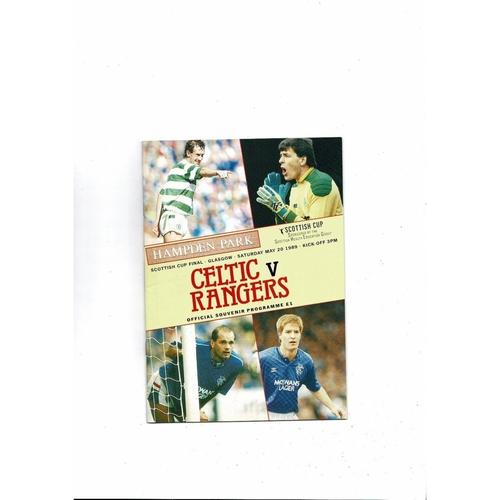 1989 Celtic v Rangers Scottish Cup Final Football Programme